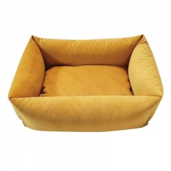 Sofa velours jaune pour chien
