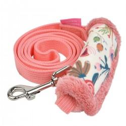 Laisse Pinka Fleur rose pour chien