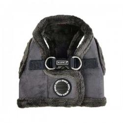 Harnais veste fourré gris pour chien