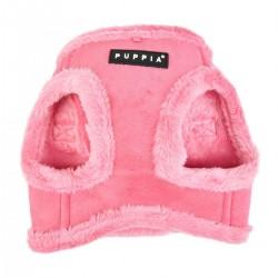 Harnais veste fourré rose pour chien
