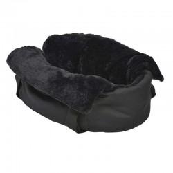 Sac de transport Dodo fourré noir pour chien