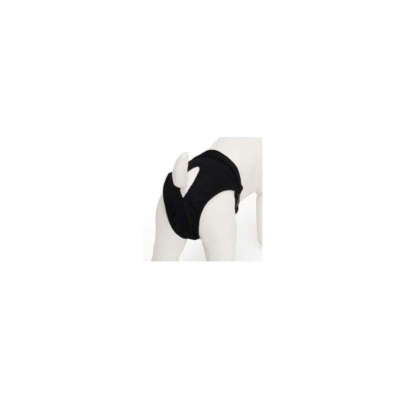 Culotte hygiène noire pour chien