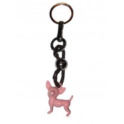 Porte-clés Chihuahua rose