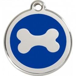 Médaille Os bleu pour chien