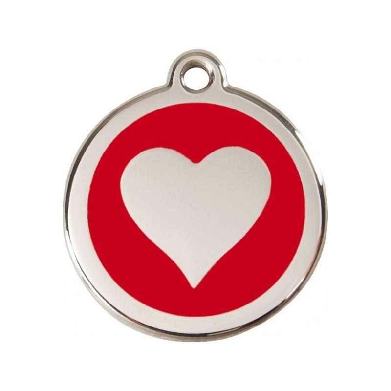 Médaille Coeur rouge pour chien